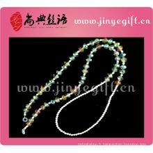 Lanière perlée en cristal faite main d'étain de bijoux de mode pour des lunettes de soleil