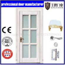 Portes coulissantes intérieures en bois de porte d'insertion en verre / porte en verre trempé