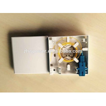 FTTH настенное крепление лицевой панели оптоволоконного кабеля 86 * 86 типа Волоконно-оптический кабель Коробка оконечная, закрытый волоконно-оптический малогабаритный ящик с 2-мя портами