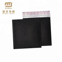 High-end Design Forte Sealing Matte Black Metálico Foil Custom Fosco Bolha Mailer Sacos