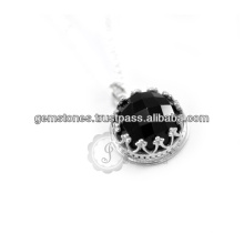 Onyx 925 Sterling Silver Necklace Handmade Silver Necklace in Wholesale