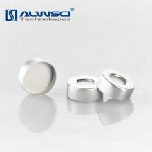20mm de hierro y centro de 8 mm de agujero de aluminio de plata de crimpado tapa para GC vial
