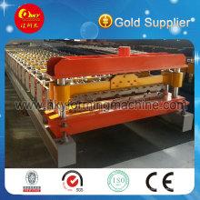 Hky 8-130-910 Linha de produção automática de máquina perfiladeira de telha de aço colorida para painel de parede e telhado
