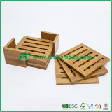 FB1-4018 Bamboo Pad Hot Insulation Plate Cup Mat for Coffer and Tea