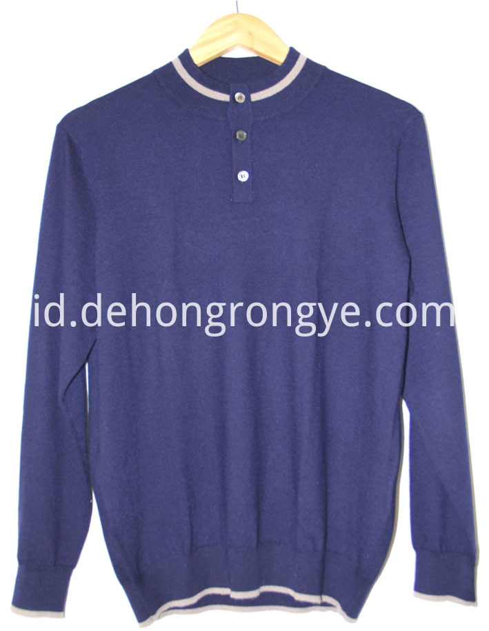 Half High Collar Worsted Cashmere Man S Cardigan