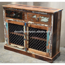 Recycled Wooden Sideboard Eisen Jali Panel