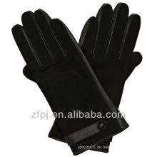 Neue spezielle Arten 100% Qualitätsart und weiseveloursleder-Damehandschuhe