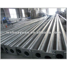 Galvanized tubular steel poles
