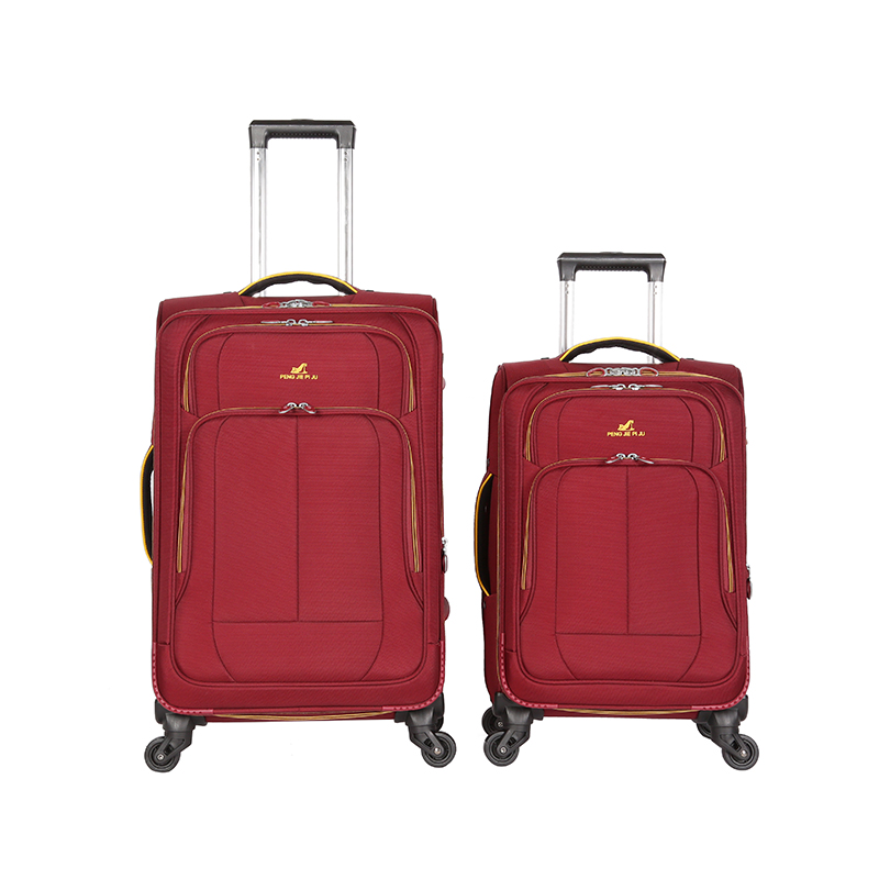 Hot-sale cute travel tow trolley fabric luggage