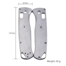 El marco de cuchillo personalizado parte escalas de mango de cuchillo de titanio