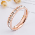 Rose Gold Cubic Zirconia Anniversary Ring For Her