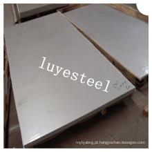 Folha laminada a alta temperatura de aço inoxidável de X6crninb18-10 / placa En 1,4550