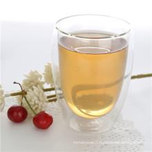 350 ml de verre transparent à double paroi borosilicate