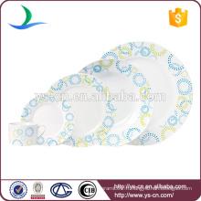 Plaques rondes en porcelaine de chaozhou