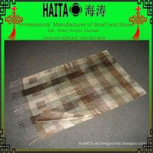 Mantón de imitación de seda a cuadros