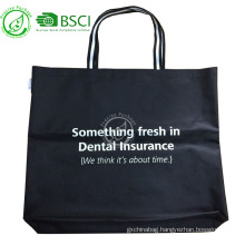 Reusable promotional 600d polyester canvas tote bag