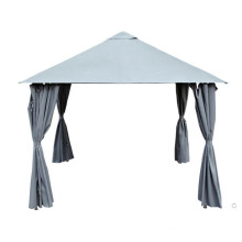 Grey Steel Garden Gazebo Canopy Shelter