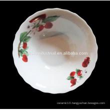 Linyi factory printed Ceramic Porcelain Soup Bowl