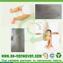Material no tejido hidrofílico Spunbond Pañal