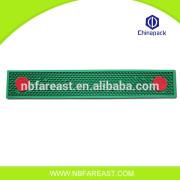 Logo printing advertising custom rubber bar mat