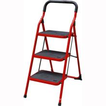 échelle se pliante de ménage matial d'acier inoxydable, escalier se pliant en acier, échelle d'étape de ménage avec la balustrade de sécurité