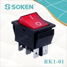 Soken 250VAC 16A T100 / 55 CQC interruptor oscilante