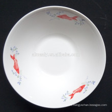 cheap white ceramic bowls with fish design