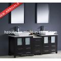 Moderne Doppel Waschbecken Holz Badezimmer Eitelkeit (BA-1127)
