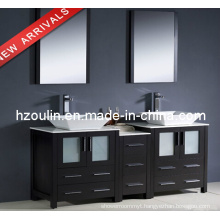 Modern Double Sink Wooden Bathroom Vanity (BA-1127)