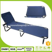 Ao ar livre, cama com encosto ajustável de dobramento