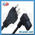 Бесплатный образец UL Certified 250v 3 prongs brazil Кабель питания переменного тока