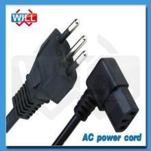 Free muestra UL certificada 250v 3 dientes brasil cable de alimentación de CA
