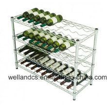 Adjustable K/D Metal Chrome Wine Rack Shelf for Hotel/Restaurant (WR903590A4C)