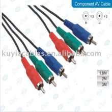 NEW 3 RCA COMPONENT VIDEO AV CABLE 3RCA TO 3RCA FOR DVD PLAYER 1.5M 5FT