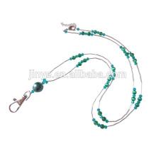 Portatarjetas de identificación hecha a mano Tiger Eye Beaded Lanyard Jewelry Cordón de cuentas