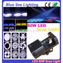 Billig mini home party disco dj effekt 60w gobo dmx führte scanner licht