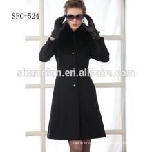 abrigos de lana pura de estilo de moda de jovencitas