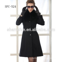 young ladies fashion style pure wool coats