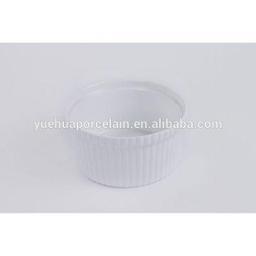 Белые фарфоровые чаны для ресторана