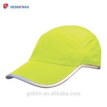 Sombrero de seguridad deportiva de fluorescencia de alta visibilidad de 360 grados