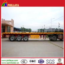 Hochleistungsbehälter-Transport-halb Flachbett-Anhänger