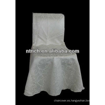 Cubierta de la silla del telar jacquar para la cubierta de la silla de la tela de boda salón sillas, Damasco
