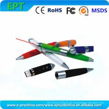 Multifunktions-Laserpointer Kugelschreiber Form USB-Stick (EP031)
