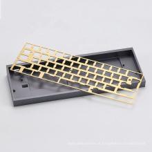 Placa da caixa do teclado mecânico de usinagem CNC personalizada