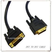 Oro de alta calidad plateado DVI negro a DVI cable DVI 24 + 1 PARA SAMSUNG MONITOR DELL