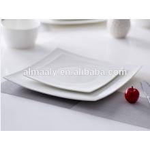 Billige quadratische weiße Keramikplatte Keramik quadratische Platte
