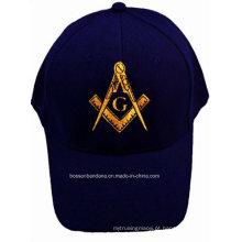 Boné de beisebol feito sob encomenda bordado do lazer do algodão da promoção do tampão do bordado da promoção