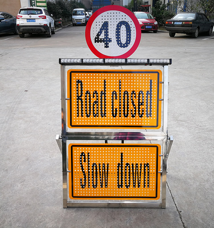 folding traffic signs board