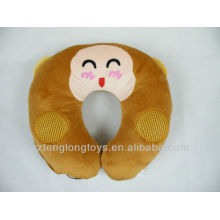 2 in 1 novelty neck pillow speaker for MP3 PC PSP