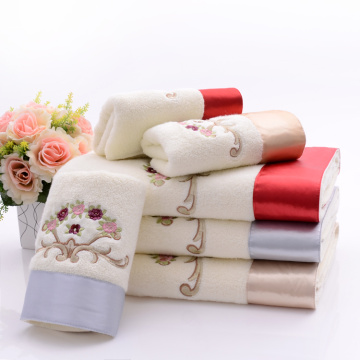 Terry Soft Towels Embroidery & Patch Silk Elegant